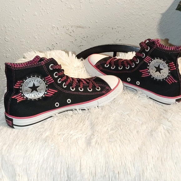 New Converse All-Star High-top Black/Pink Sneakers